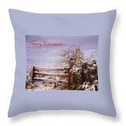 Western Christmas Throw Pillow