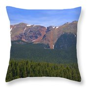 Western Face Pikes Peak Throw Pillow