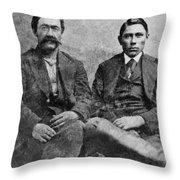 Western Frontiersmen Throw Pillow