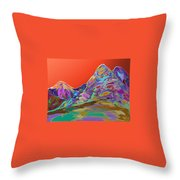 Western Glow Throw Pillow