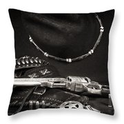 Western Justice Throw Pillow by John Rizzuto