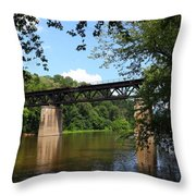 Western Maryland Railroad Crossing The Potomac River Throw Pillow