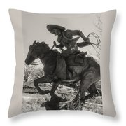 Western Rider 3 Throw Pillow