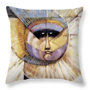 Western Solarmask Throw Pillow