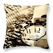 Western Time Throw Pillow