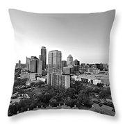 Western View Of Austin Skyline Throw Pillow