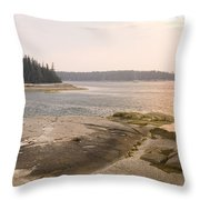 Western View Of Hell's Half Acre Throw Pillow
