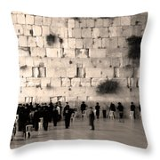 Western Wall Photopaint One Throw Pillow