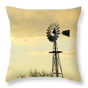 Western Windmill Throw Pillow
