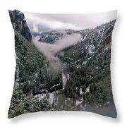 Western Yosemite Valley Throw Pillow by Bill Gallagher
