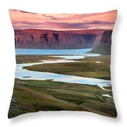 Westfjords Throw Pillow