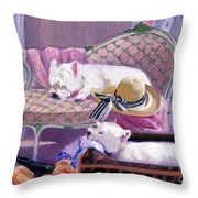 Westies Home Throw Pillow