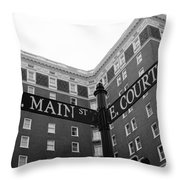 Westin Poinsett Behind S.main And E.court St Throw Pillow