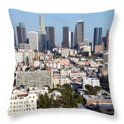Westlake And Los Angeles Skyline Throw Pillow