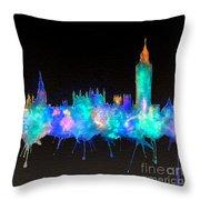 Westminster And Big Ben - Nighttime 1 Throw Pillow