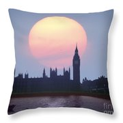 Westminster Hour Throw Pillow