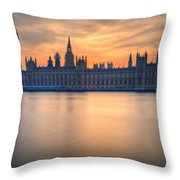 Westminster Nights Throw Pillow