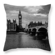 Westminster Pano Bw Throw Pillow