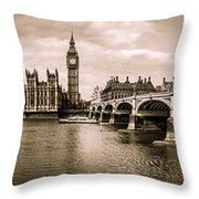 Westminster Pano Mono Throw Pillow