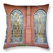 Westminster Windows Throw Pillow