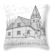 Westmore Community Church Throw Pillow