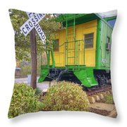 Weston Railroad Crossing Throw Pillow