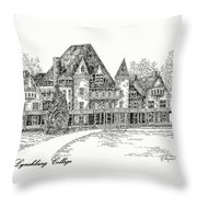 Westover Lynchburg College Throw Pillow
