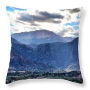 Westside Colorado Springs Throw Pillow