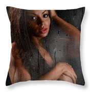 Wet 2 Throw Pillow by Jt PhotoDesign