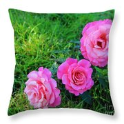 Wet Bloomers Throw Pillow