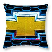 Wet Chevy Throw Pillow