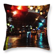 Wet City Throw Pillow