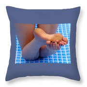 Wet Feet Throw Pillow