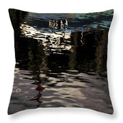 wet fishing boat,kyle of lochalsh Scotland  Throw Pillow