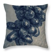 Wet Grapes Five Throw Pillow
