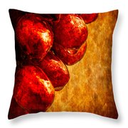 Wet Grapes Three Throw Pillow