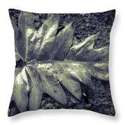 Wet Leaf Throw Pillow