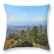 Wet Mountain Valley And Beyond Throw Pillow