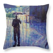 Wet Night Throw Pillow by Susan DeLain