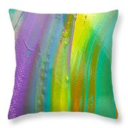 Wet Paint 8 Throw Pillow