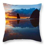 Wet Paint - Sunset In Oregon Throw Pillow