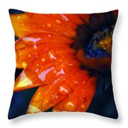 Wet Petals Throw Pillow