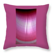 Wet Pink Throw Pillow