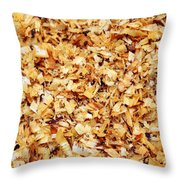 Wet Sawdust Throw Pillow