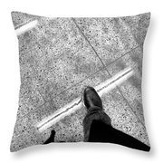 Wet Step Throw Pillow