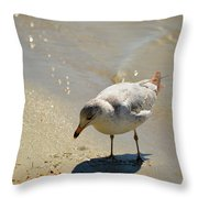 Wet Toes Throw Pillow