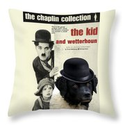 Wetterhoun-frisian Water Dog Art Canvas Print - The Kid Movie Poster Throw Pillow
