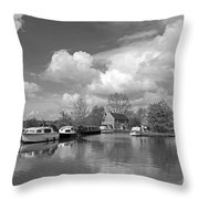 Wey Canal Ripley Surrey Throw Pillow