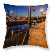 Embankment Of Weyburn Throw Pillow