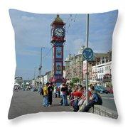 Weymouth Esplanade Throw Pillow